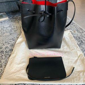 Mansur Gavriel Large Bucket Bag - Red/Flamma